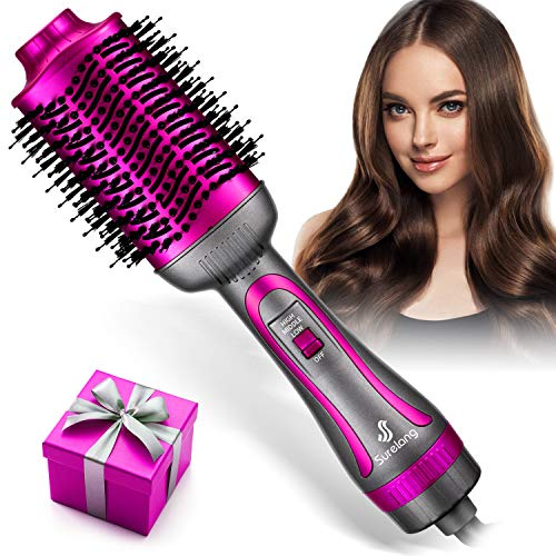 Hair Dryer Brush, Hot Air Brush, Upgrade 5 in 1 Hot Air Styler and Volumizer, Negative Ionic Curler...