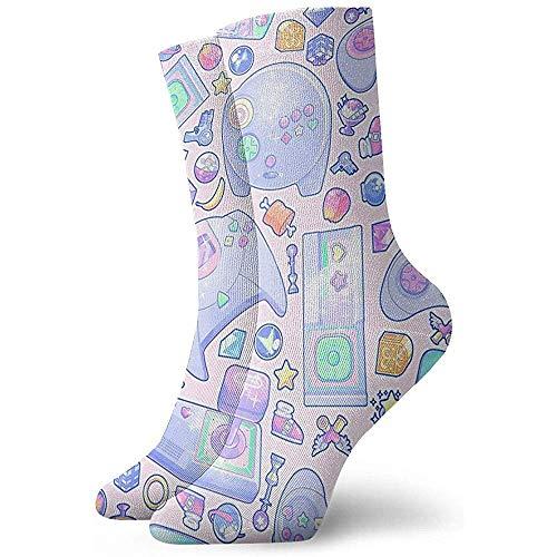 Dydan Tne Jugar Juegos Level Up Novelty Crew Socks Athletic Socks