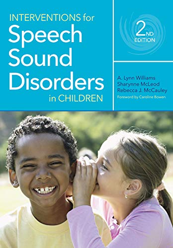 Interventions for Speech Sound Disorders in Children (Communication and Language Intervention)