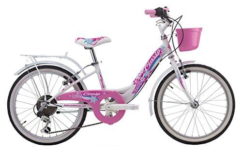 CINZIA - Bicicleta Infantil Candy de 20 Pulgadas, Cambio de 6 V,...