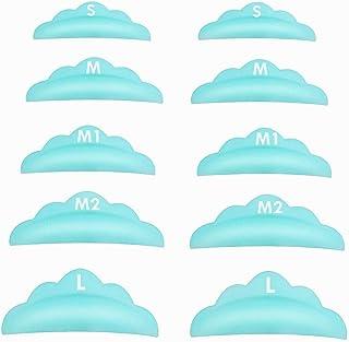 Libeauty Lash Lift Pads,DIY Eyelash Lift Pads,Eyealsh Perm Rods, Lash Lifting At Home 10 Pcs Sky Blue Pads 5 Size SMM1M2L ...