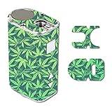 Eleaf iStick 10W Mini Vape E-Cig Mod Box Vinyl DECAL STICKER Skin Wrap / Weed Pattern Green