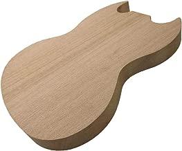 gazechimp Handcrafted Electric Guitar Body Okoume Mahogany Material for SG Electric Guitar