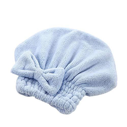 1 bonnet de douche épais en coton pour femme avec nœud