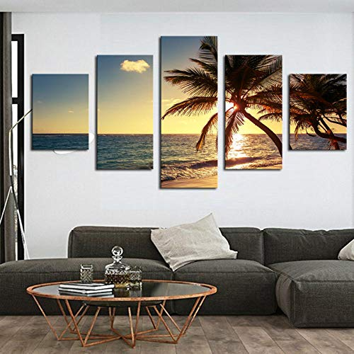ukooo canvas schilderij muurkunstposter modulair plankje zonsopgangzee zichtoverzicht woonkamer interieur van de afbeelding 5