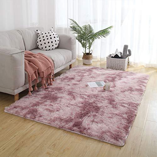 Carpet 50x140cm Weich Plüsch Teppich Einfach zu Säubern für Bettvorleger Sofa Matte, Lila