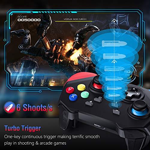 Gamory Controller Ersatz für Switch,Bluetooth Wireless Pro,Gamepad Mit Einstellbarem Turbo und Dual Shock Joysticks Spiele Handkonsolen
