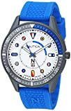 Nautica N83 Men's NAPSPS903 Surf Park Blue/White Silicone Strap Watch