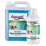 Aquani Wasseraufbereiter Gartenteich 1000ml neutralisiert schädliche Substanzen, reduziert Stress fördert die Gesundheit & Laichbereitschaft der Fische Teich Teichpflege nach Medikamentengabe