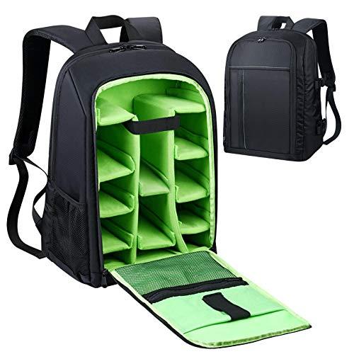 Estarer Waterproof DSLR Camera Laptop Backpack with Rain Cover,Tripod Holder,Large Professional SLR Photo Rucksack for Dji Mavic Pro,Canon,Nikon,Sony,Fujifilm