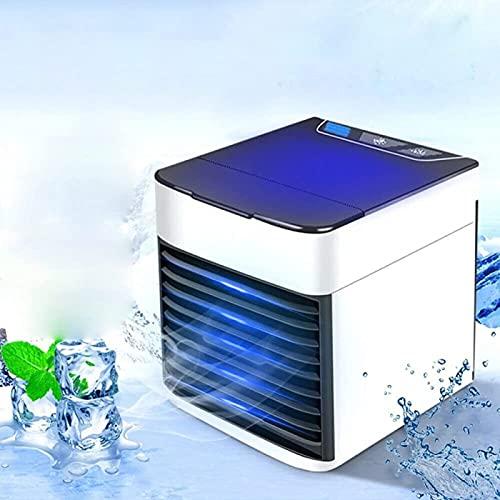 YANRU Aire Acondicionado para Coche - 7 Luces De Colores Aparato De Aire Acondicionado, Utilice Solo Agua Limpia Mini Nevera, para La Oficina De Viajes Familiares