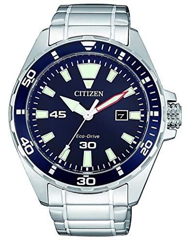 Citizen Herren Analog Quarz Uhr mit Edelstahl Armband BM7450-81L