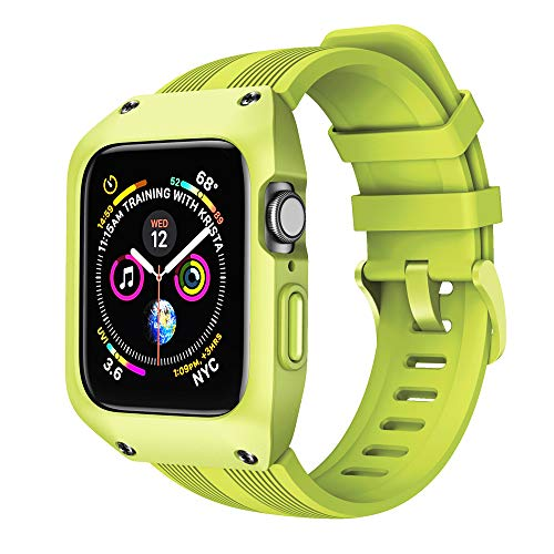 XZZTX Compatibel met Apple Watch Band 38mm 40mm 42mm 44mm, Vloeibare siliconen schokbestendige iWatch beschermhoes voor iWatch Series 5 4 3 2 1