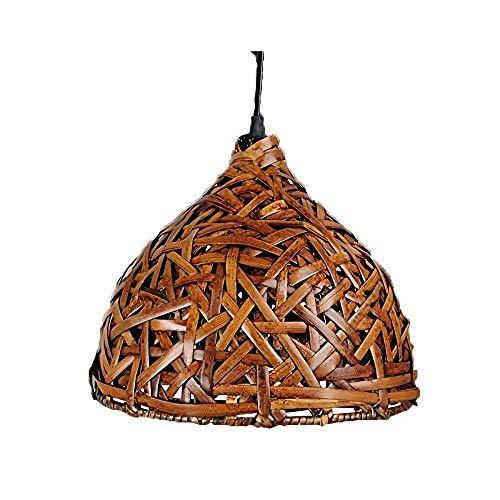 BOOHR Techo hechos a mano tailandesa de bambú de la lámpara retro original esférica pendiente de la luz rural Hierba Luz Parra Virgen Bosque tatami japonés arte decorativo del accesorio for la Casa Ru