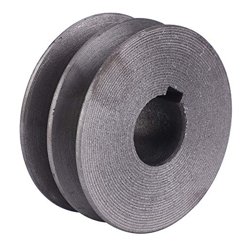 Rueda de polea de acero, polea de pista de doble ranura en U, rueda redonda de 72 mm, para motor de máquina de corte, 7 x 7 x 3 cm