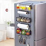 Beverl - Scaffale portaoggetti laterale per frigorifero e spezie da appendere alla porta, per cucina e bagno