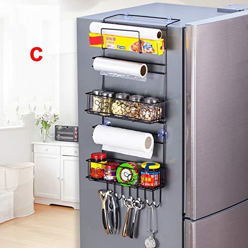 Gelentea Kühlschrank-Hängeregal, große Kapazität, für Zuhause, Küchenbedarf, Organizer, Haushalt, Mehrschichtige Kühlschrank-Aufbewahrung C
