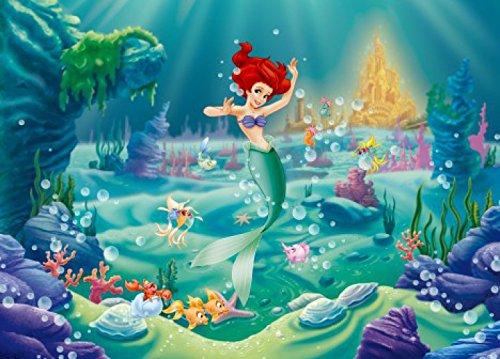 1art1 Arielle Die Meerjungfrau - Schöne Unterwasserwelt, 1-Teilig Fototapete Poster-Tapete 160 x 115 cm