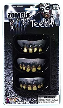 Forum Novelties 3 Pack Zombie Teeth Adult - Official Costumes for Halloween