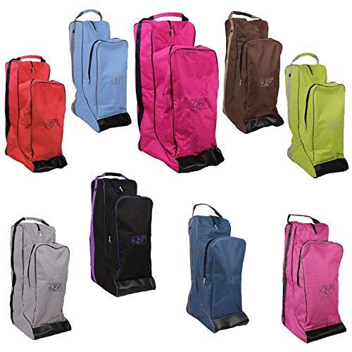 NETPROSHOP Stiefeltasche und Helmtasche Zusammen in Einem für den Reitsport, Farbe:Hellgruen