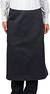 KNG Pack Of 6 - Black Full Bistro Apron, 30 Inch