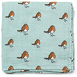 X-large - 120x120cm: Much larger than a traditional muslin square to make swaddling easier. You'll also receive a beautiful how to swaddle guide to show you how. (pictured) Beautifully hand illustrated woodland inspired design by Little Blue Nest Bab...