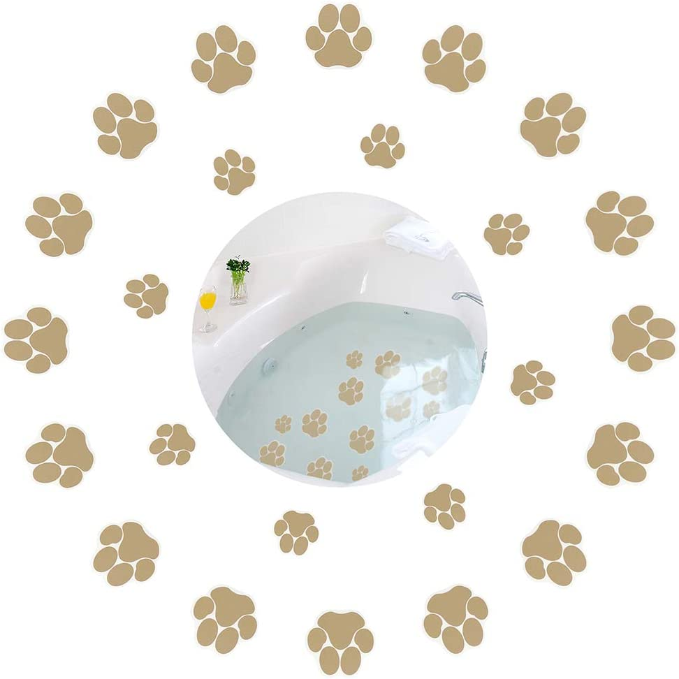 24 Pcs Dog Paw Footprint Non Bathtub Stickers Strong Slip Safety Discount mail Same day shipping order