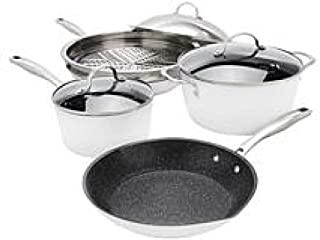 Curtis Stone Dura-Pan Nonstick 8-piece Essential Cookware Set - White