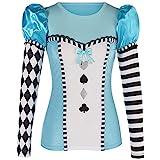 Yummy Bee Haut sexy Alice au pays des merveilles pour femme – Costume de conte de fées pour Halloween – Grande taille 36-46 (42-46)