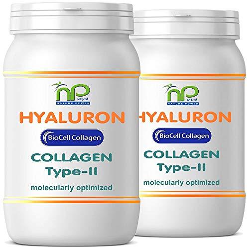 Capsule Biocell Collagen® o Collagen Express (con collagene-II, acido ialuronico, vitamina C e manganese) 1000 mg di collagene / die per pelle, capelli, articolazioni di NP-Vital (120 Biocell Collagen® capsule)