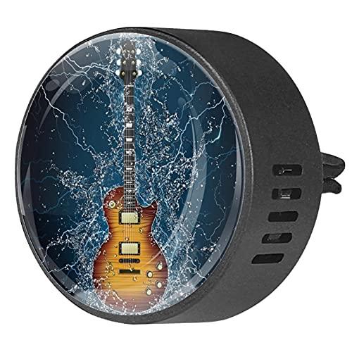 Difusor de coche para clips de ventilación de aceite esencial,Guitarra eléctrica bajo el agua ,2 paquetes de ambientadores de aromaterapia de 40 mm