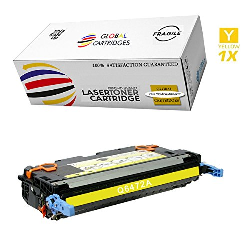 GLB Premium Quality Remanufactured Replacement for HP 501A/502A HP 3600 Yellow Q6472A Toner Cartridge
