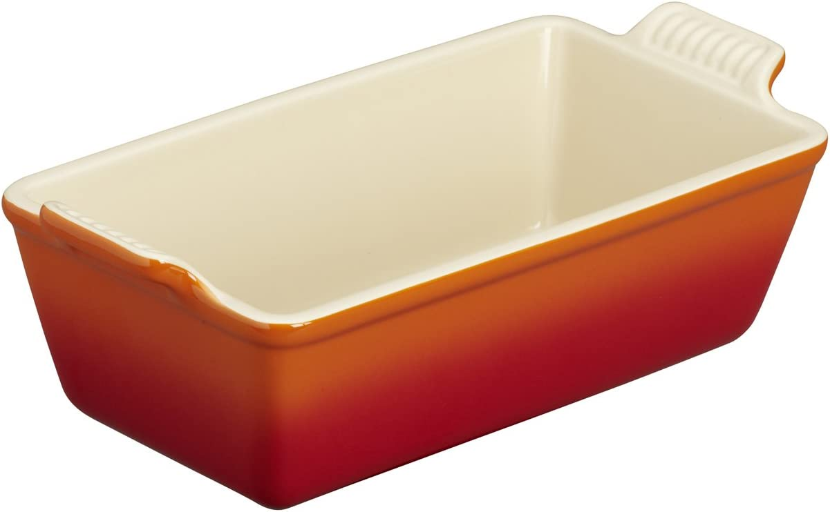 Le Creuset Stoneware Heritage Loaf Pan qt. Fort Worth Mall x 9