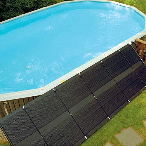 SunHeater Heating System, Includes Two 2' x 20' Panels (80 sq. ft.) – Solar Heater for Aboveground Pools, Made of Durable Polypropylene, Raises Temperature Up to 15°F – S421P, Black