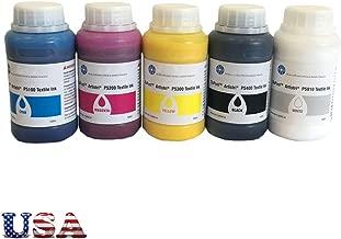 US Stock - Dupont Artistri CMYK White DTG Ink Textile Ink Pigment Ink - P5000+ Series-1.25L(250ML/bottle/color) (CMYK+White)