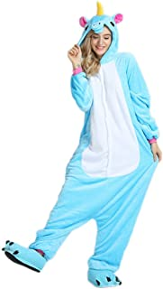 66cb67516b8bb BienBien Pyjama Licorne Adulte Unisexe Unicorne Animaux Cosplay Aminal Pyjamas  Combinaison Kigurumi Halloween Déguisement Costume Ensemble