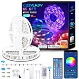 Cozylady LED Strip Lights 65.6FT - WiFi Smart LED Light Strip Compatible with Alexa,Google Home Controlled by Smart APP - Music Sync LED Lights for Bedroom Decor, Room Decor, Children's Room