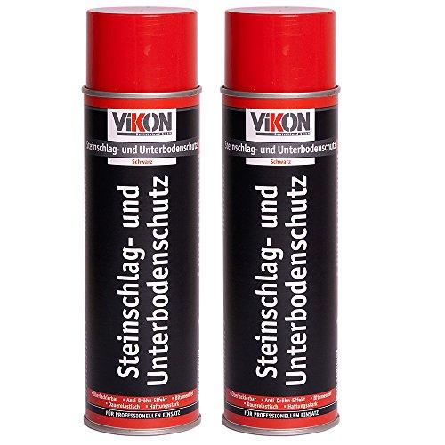 2 Dosen VIKON Steinschlag-Unterbodenschutz-Spray Schwarz 500 ml, überlackierbar