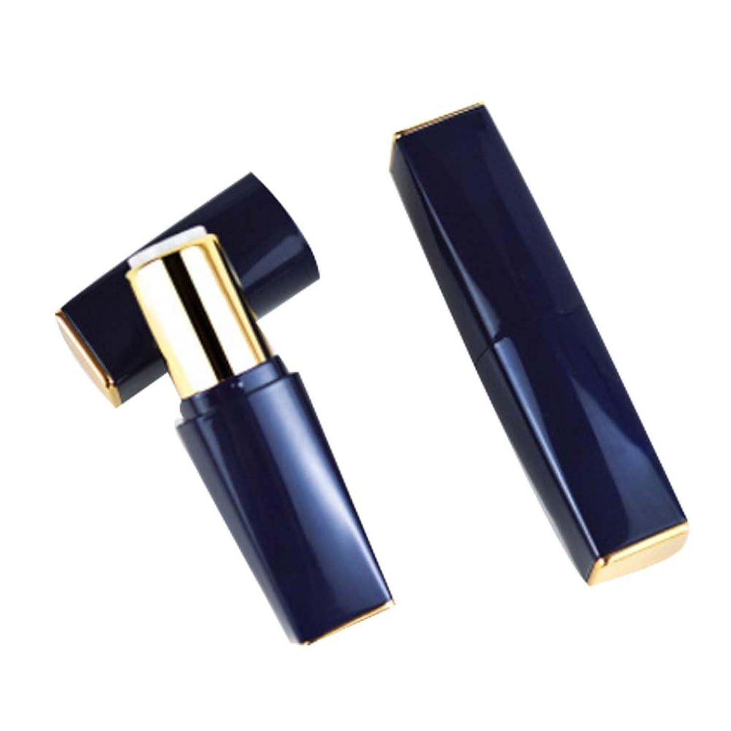 リップ入学する膜[N] 化粧品のギフトDIYのリップスティックコンテナ2つの空のリップグロスチューブの空のセット