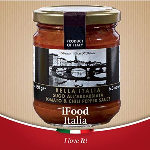 Artisan Sauce for Pasta all'arrabbiata Bella Italia 180g iFood Italia Umbria Made in Italy
