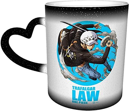 Beets Taza de café sensible al calor P-I-E-C-E One Trafalgar Law Tazas mágicas