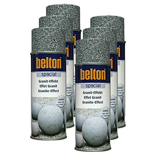 Kwasny 6X Belton Special Lackspray Lack Spray Spraylack Granit-Effekt Obsidianschwarz 400 Ml