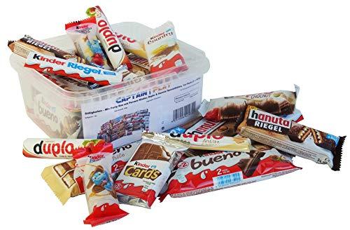Süßigkeiten – Mix Party Box mit Ferrero Kinder, Duplo & Hanuta Spezialitäten, 1er Pack (1 x 620g)