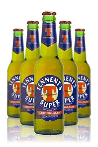 Cerveza Tennent's Super la caja de 24 botellas x 33cl