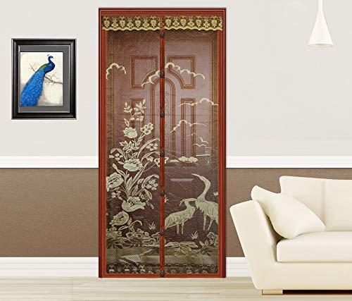 Sommer Haushalt Anti-Moskito-Tür Vorhang Freisprecheinrichtung braun magnetische Türen und Fenster Bildschirm Mesh Moskitonetz Magnetbildschirm A1 W110xH210