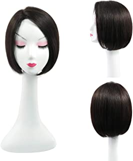 RemeeHi Natural Look Beauty Straight Shoulder-length Hair with Hand Made Part In Stock None Lace Full Head Wig On Mono 1B# Natural Black