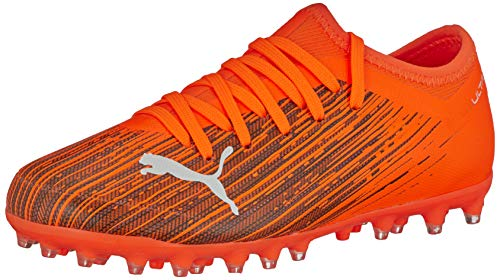 PUMA Ultra 3.1 MG JR, Zapatillas de fútbol Unisex Adulto, Naranja (Shocking Orange Black), 37 EU