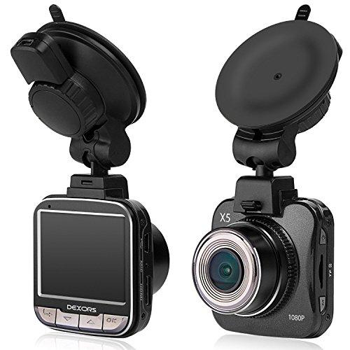 dexors X5Dash Cam da 2.0Full HD 1080P auto fotocamera con G-sensor, visione notturna (Libera 8GB scheda SD)–Novatek NT96650