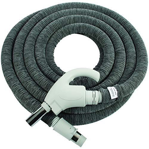 Cen-tec systems 94093 35 ft. Low voltage central vacuum installed hose sock, light gray