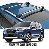 Roof Rack for Subaru Forester, Turtle V1 Cross Bars, Silver Color, Strong, Safe, Durable, Low Profile Fits 2019-2020-2021